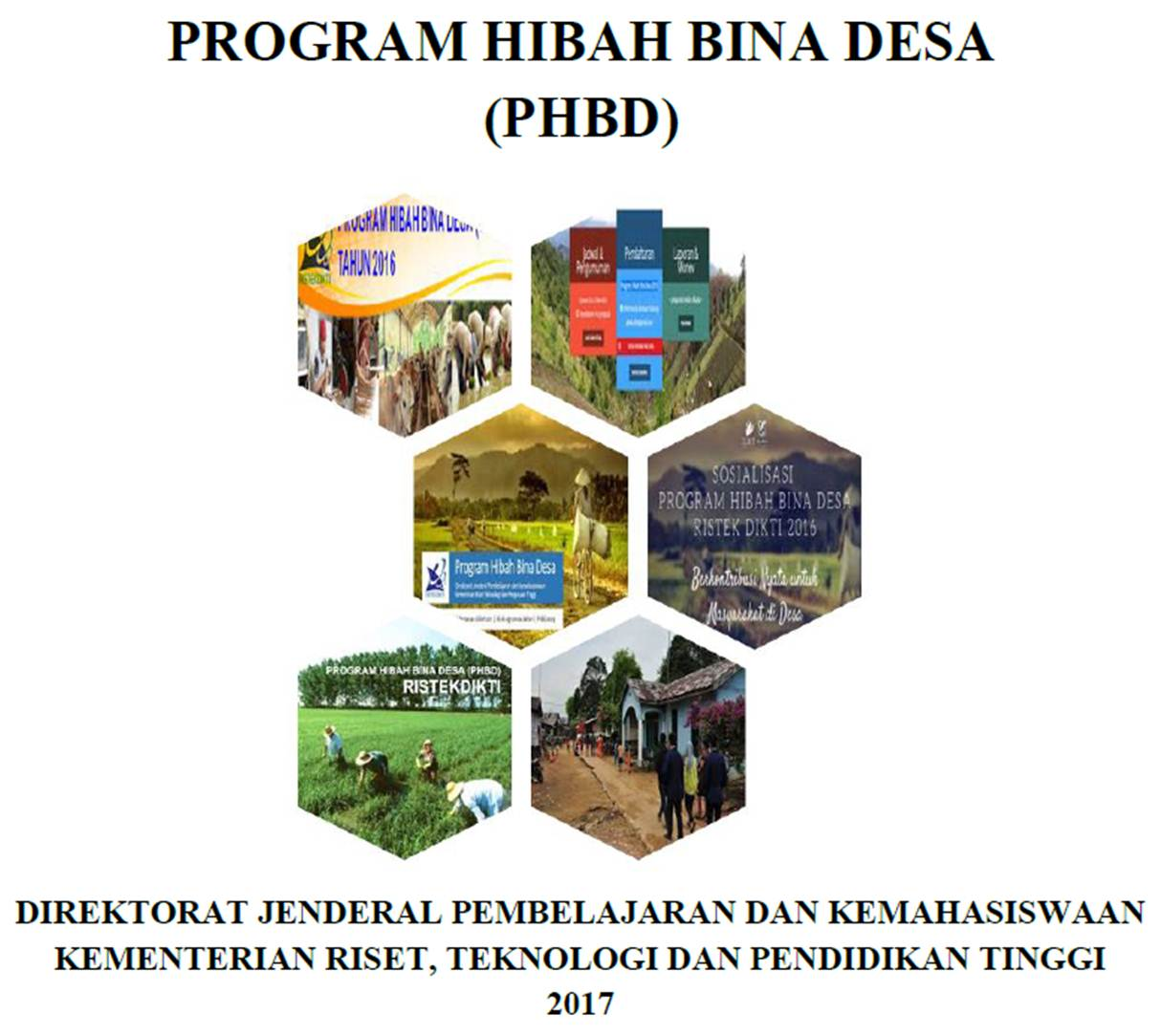 PROGRAM HIBAH BINA DESA  (PHBD) 2017